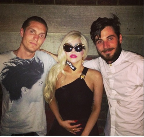 Lady Gaga at the New Versace Versus Event