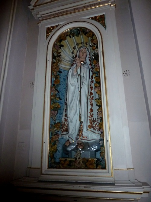 Madonna ta Fatima A shrine for Our Lady of Fatima in the parish church of Marija Bambina in Naxxar, Malta. Maltese churches are filled with beautiful shrines for Mary.