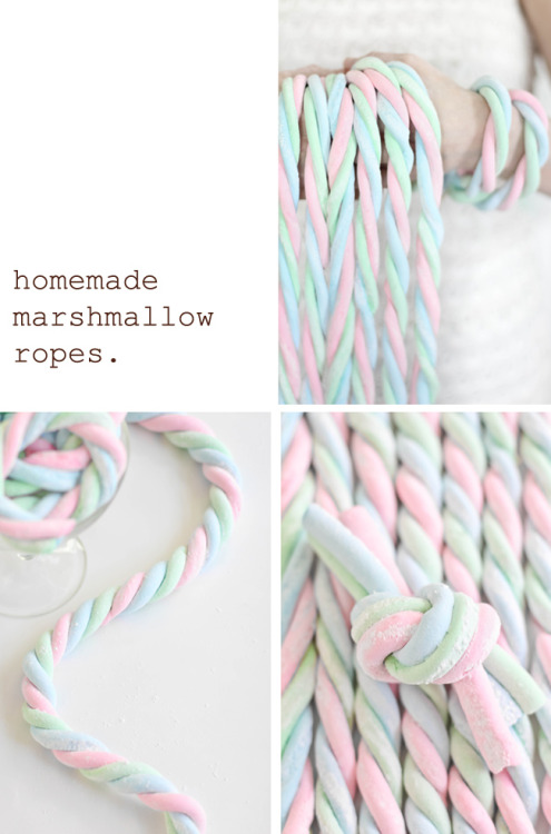 Homemade Marshmallow Ropes | Sprinkle Bakes