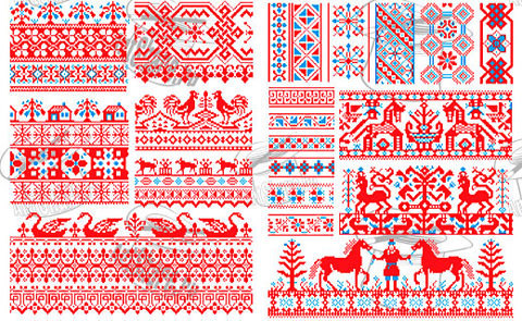 some traditional Russian designs