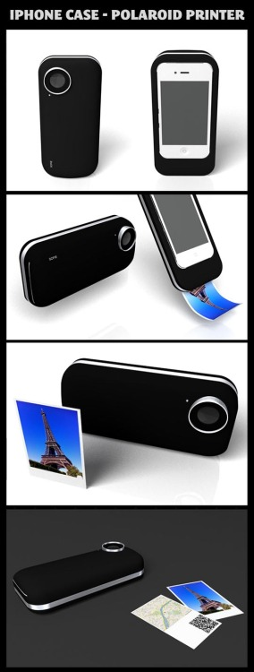 fearofgravity:  iPhone case - polaroid printer.