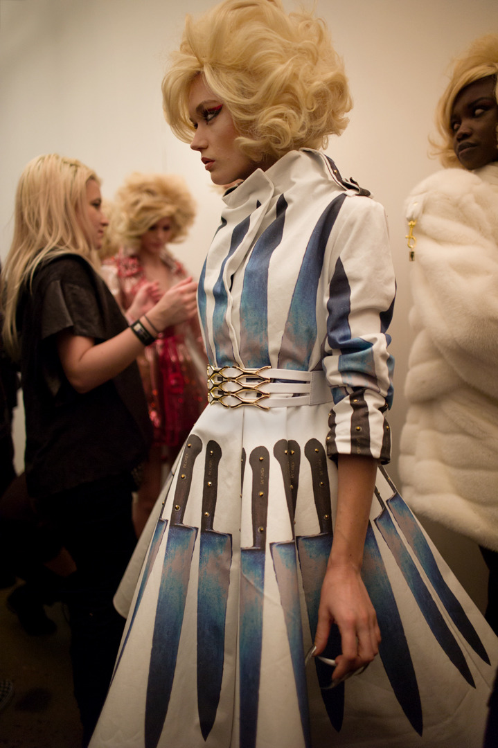 Knife dress at The Blonds show Photo by Amanda Hakan.