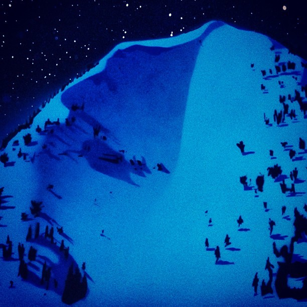 Glow-in-the-dark full moon Impulse buy: Mt. Glory by Mike Tierney. Happy #121212, #merryxmas2me