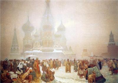 relishinrussia:  Alphonse Mucha, The Abolition of Serfdom in Russia (1914).
