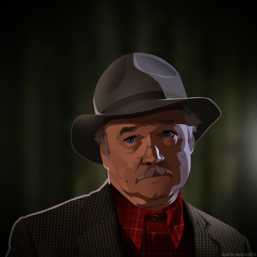 Twin peaks illustrated - Pete Martell by Martin Woutisseth