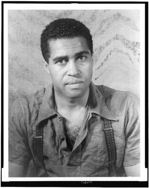 "Actor Robert Earl Jones photographed by Carl Van Vechten in 1938. The father of James Earl Jones, he appeared in Oscar Michaeux films, on Broadway and with Robert Redford in ""The Sting"". In the 1930s, he was a boxer and the sparring partner of Joe Louis. Blacklisted in the 1950s, he appeared in an uncredited role as the club employee who offers Harry Belafonte a ""piece of iron"" in the 1959 film noir ""Odds Against Tomorrow"". Mr. Jones died in 2006 at the age of 96."