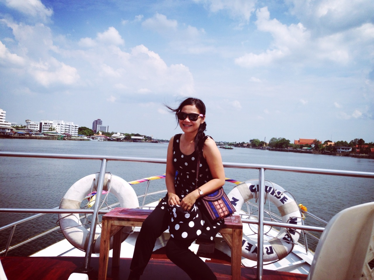 #BKKTrip #Day3 Cruised back to Bangkok via the mighty Chao Phraya River. – View on Path.