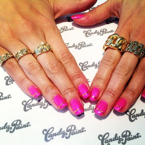 Dope nails of the day ;) #MelodyEhsani  melodysblog:  My boo @bigdaddykelly wearing all #melodyehsani rings while getting her nails done @candypaintla #MElife #love (at Candy Paint Nail Studio)