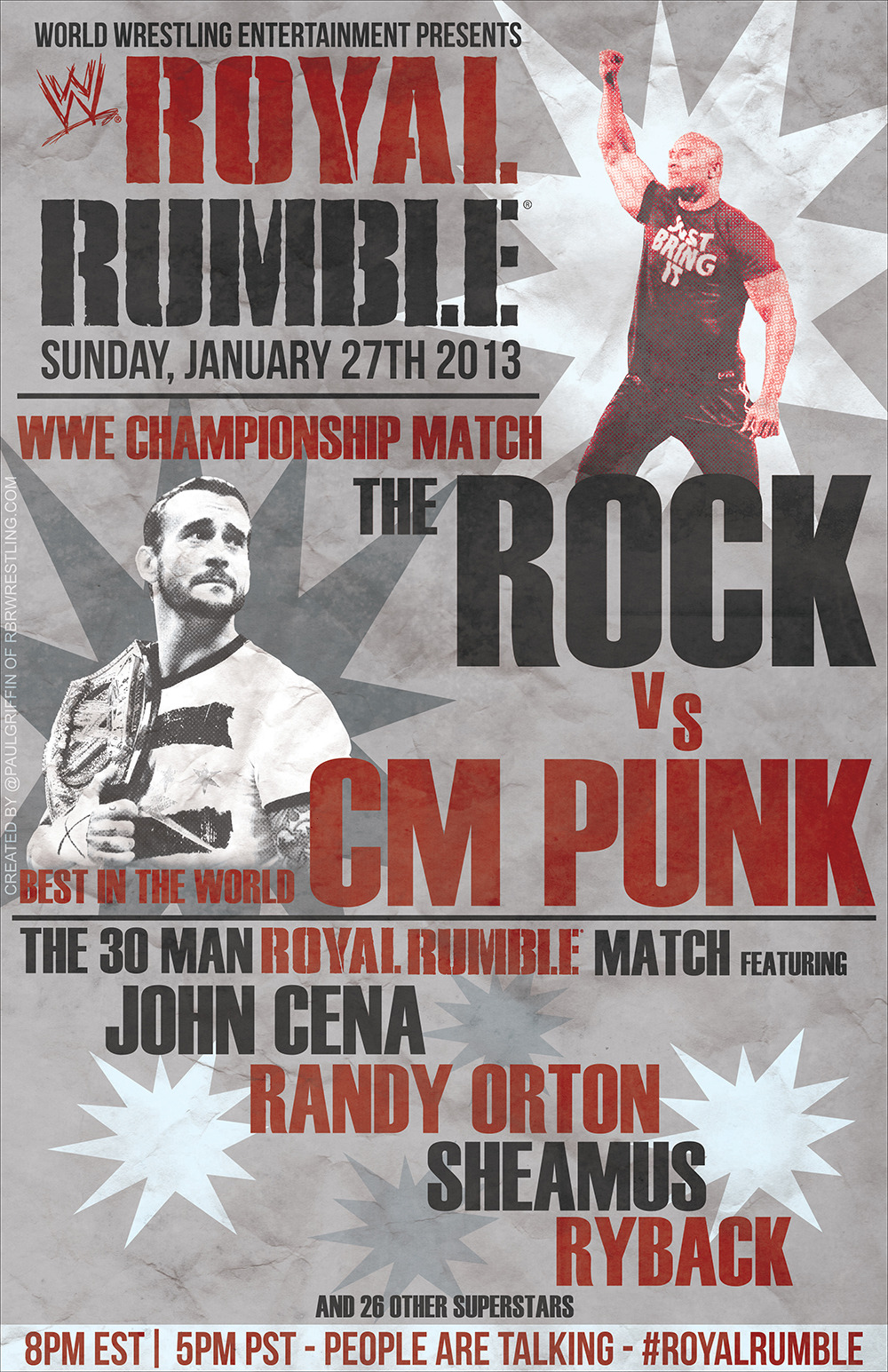 Incoming Vintage WWE Royal Rumble 2013 Poster!