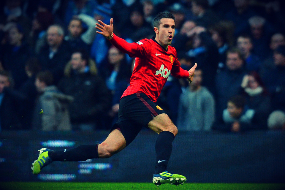 RVP paints Manchester RED!