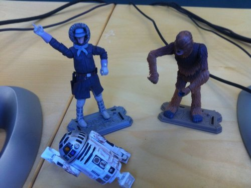 http://scificity.tumblr.com My dancing buddies at work