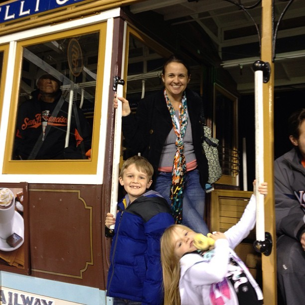In the cable car in outfield #attpark