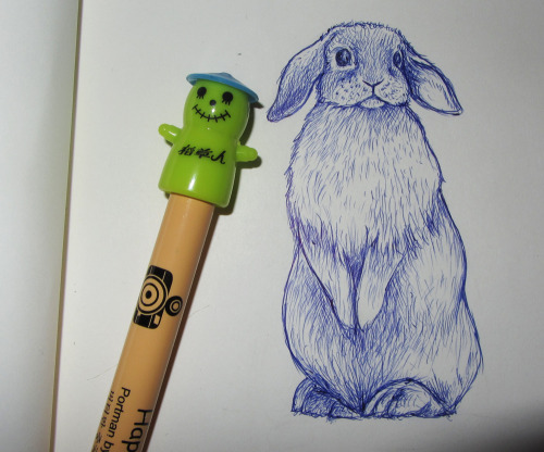 chloemcg:  I only bought this pen for the weird cactus man thing on the top but i've discovered today that he's the BEST pen; you can get so much detail with this thing