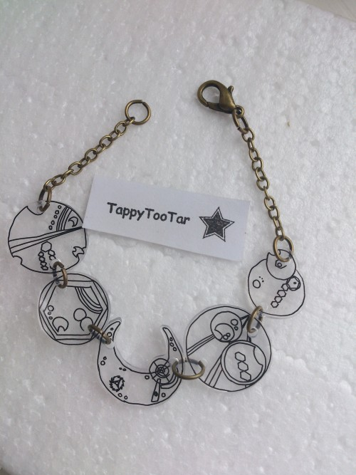 Doctor Who / Gallifreyan Inspired Bracelet Available on Etsy(click picture)