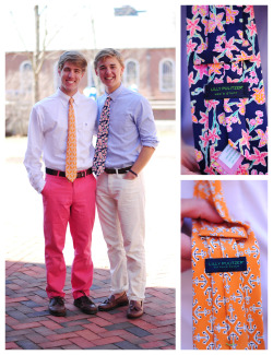 aculturedpearl:  hotchkisslookbook:  Jack and Fernand R.I.P. Lilly Pulitzer  Well this is an attractive tribute.