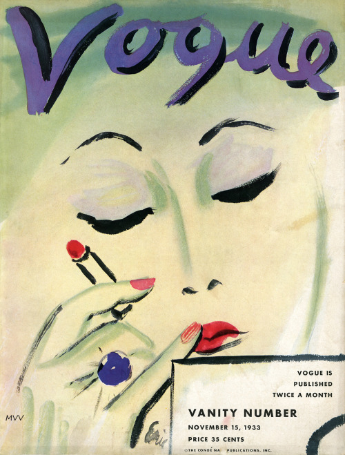 myvintagevogue:  Vogue November 1933 / Conde Nast new to the archive