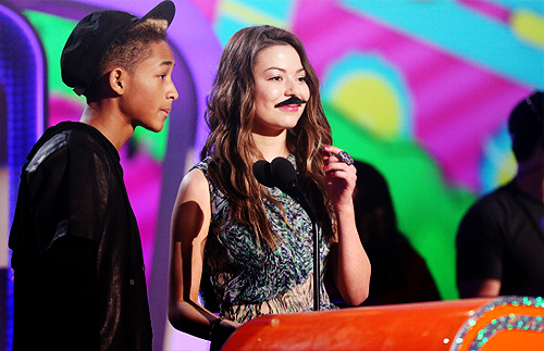 Jaden Smith and Miranda Cosgrove (iCarly)  I love iCarly since birth <3  -Z