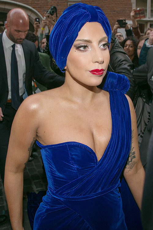 Gaga arriving at Brussels Town Hall. 9.22.14 HQ