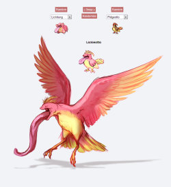 catsbooksandtheholylance:  Can anybody say 'Winged Abomination?' pokefuzions are fun XD