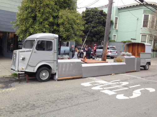 A great new parklet in Cow Hollow by the Rebar folks & Rapha Bike Shop!  Love it!