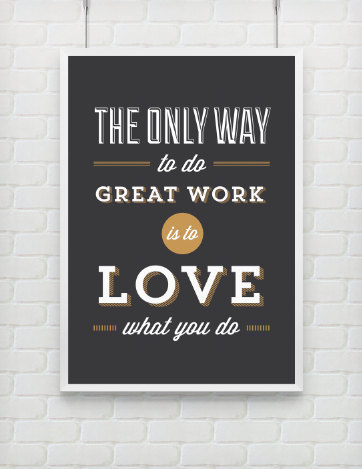 betype:  Quote Print Inspirational Steve Jobs