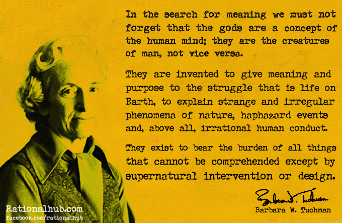 Barbara Tuchman on Religion.. by ~rationalhub