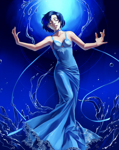 girlsbydaylight:  Princess Mercury by ~EvilApple513