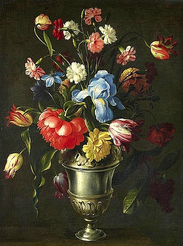 Giovanni Stanchi Still Life with Flowers in a Silver Urn 1659