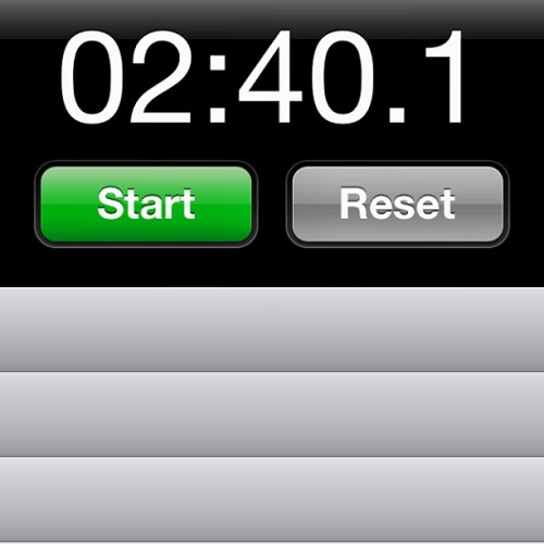 My fastest time going around the oval jogging. Nyahahahaha 😝 #slowpoke #time #stopwatch #lap #jogging #ultra #oval #fitspiration #fitspo