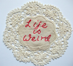 teachingliteracy:  existential doily (by Stitch Therapy)
