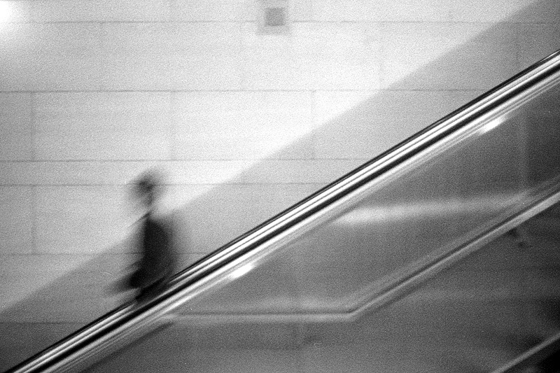 Escalator - Los Angeles - March 2013 I love blur + grain !