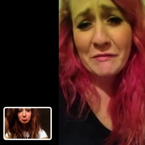 All of the tears from the pink mermaid. #facetime @baileyforgets #pinkhair #dreads