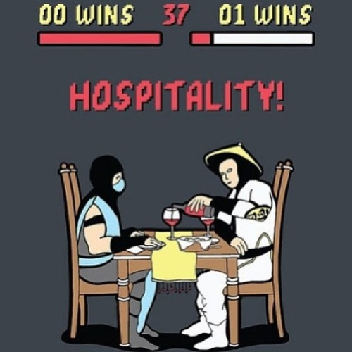Finish Him! Hospitality! #SeemsLegit Reposted from @gameboyjones
