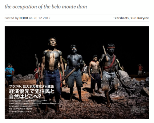 Occupation of the Belo Monte dam, Yurij Kozyrev/NOOR