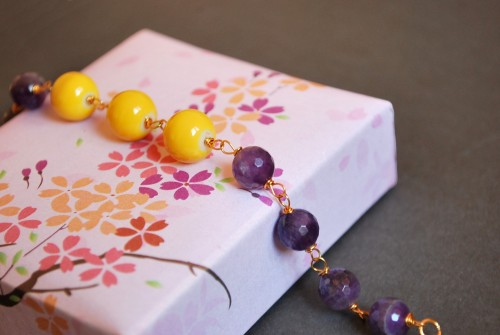 Lavender honey bracelet