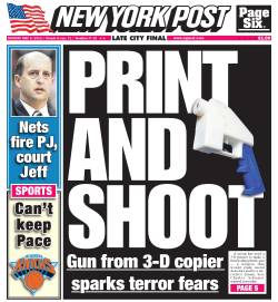 New York Post front page for Mon., May 6
