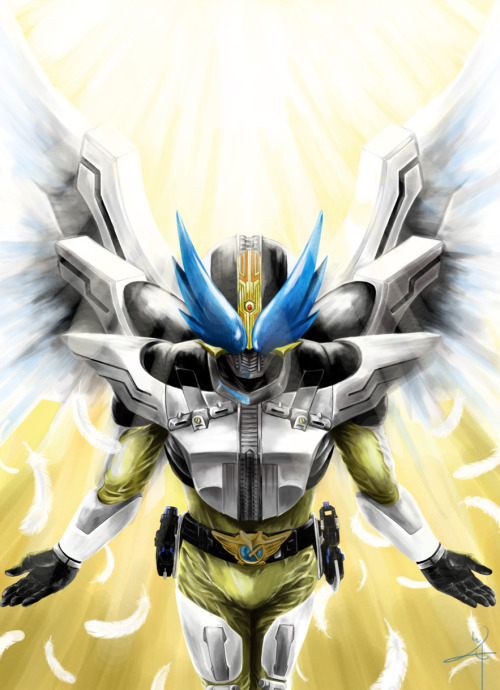 "nipponhero:  ""Advent. To the top!! - Sieg(KAMEN RIDER DEN-O: WING)"