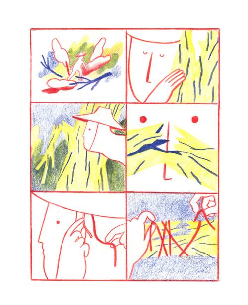 Illustration fanzine comic nature