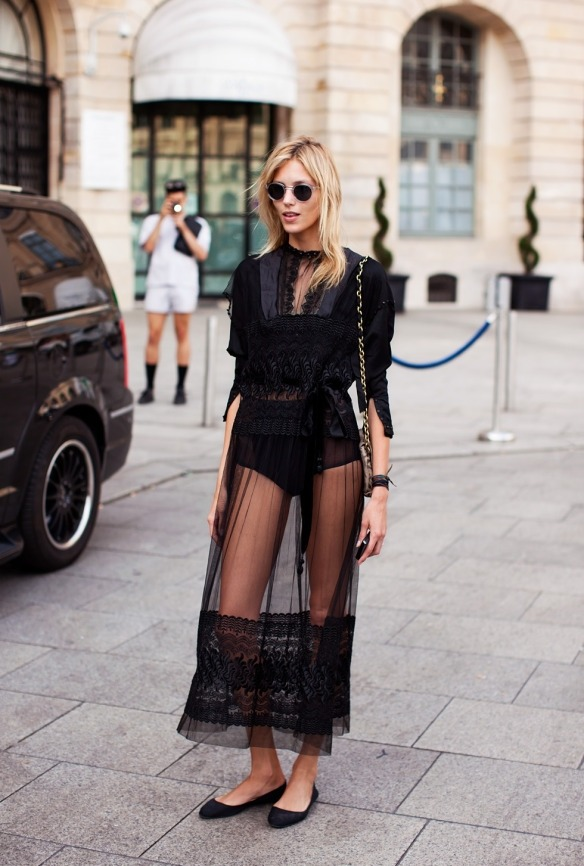 thesoulofmacushla:  Fashion trend: see-through black dress
