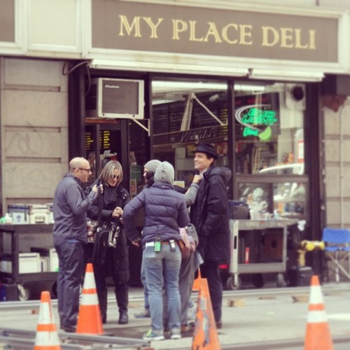 mattbomeritalia:  White Collar 5 set- may 14, 2013