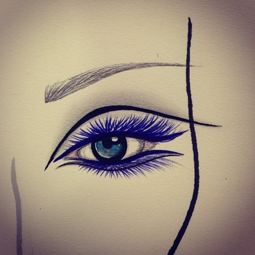 Just doodling. #eye #makeup #mac #maccosmetics #mua #work #doodle #facechart #monday #makeupmonday #liner #lashes