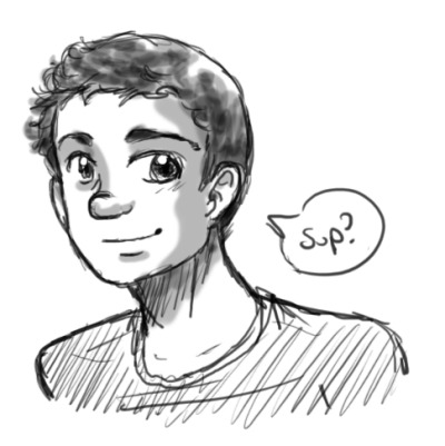 youshouldsmilesometime:  :D warm-up sketches of my new friend, yo.  this is me! :D