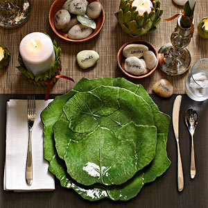 Nature-themed Table Setting idea by Libby Langdon