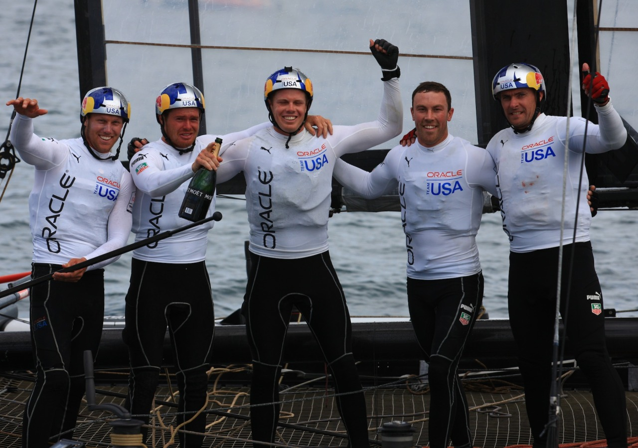 Oracle Team USA won the America's Cup World Series Naples match racing championship over Luna Rossa Challenge Swordfish in a thrilling come-from-behind performance.In the fleet racing championship it was Bruni's turn to stage the comeback, passing ORACLE TEAM USA SLINGSBY on the final downwind leg for a 33-second victory.Slingsby, however, delivered the 2012-13 America's Cup World Series overall championship for ORACLE TEAM USA.