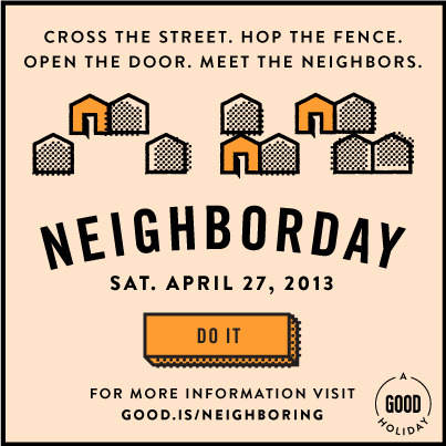 "Help get Neighborday celebrations in ALL 50 states. Right now we in are 32 different states, which is pretty good, but we can do better. Below are the states which don't currently have celebrations planned, so if you have friends in these places, tell them about Neighborday. Have them click ""to-do"" here and fill out the form linked to this post. We'll be updating this Do as we check states off the list, so you can keep up with how we're doing.  States that have yet to host a Neighborday: Alaska  Delaware  Hawaii  Iowa  Kansas  Maine  Mississippi  Montana  Nebraska  Nevada  New Hampshire  North Dakota  South Carolina  South Dakota  Vermont  West Virginia  Wisconsin  Wyoming Continue to form:"