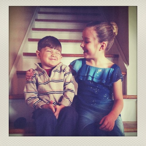 LOVE the Instant app. So worth the $2. #instant #children #stairs #polaroid #iphoneonly