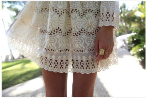 zimmermann-sydney:  Details: Jessica from Tuula Vintage wears Splendour Broderie Mini Dress