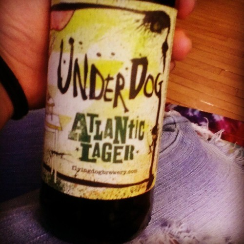 Hipster beer is yummy beer #flyingdog #underdog #lager #beer #thirstythursdays #college @oliviaakoster  (at Hamilton College)