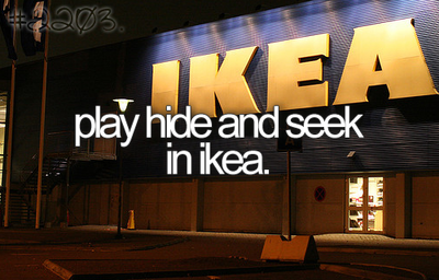 Image result for hide and seek ikea with friends tumblr