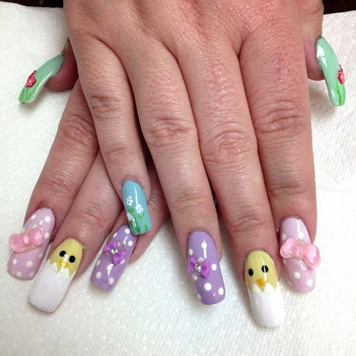 Easter Egg Hunt  #nailart #nailporn